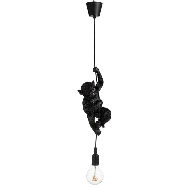 Hängelampe - Tierlampe Hängender Affe - schwarz