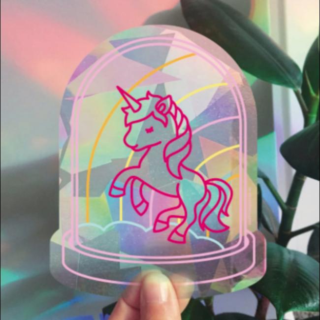 Rainbowmaker Happy Window - Unicorn