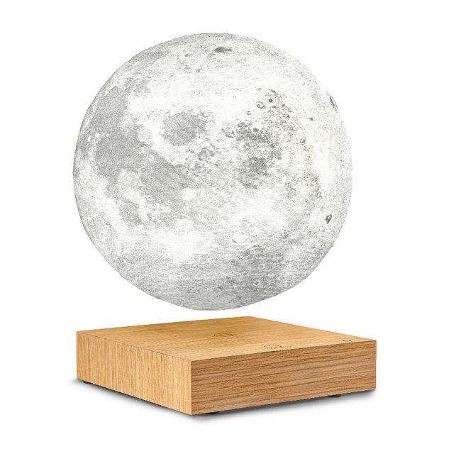 Gingko - Smart Lampe de Lune - bois frêne blanc