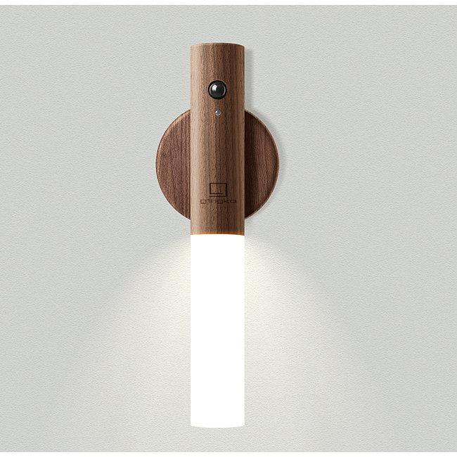 Gingko - Smart Baton Lampe - Nussbaum - wiederaufladbarer - Sensor