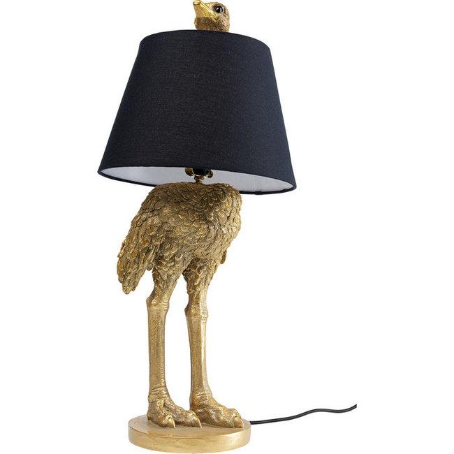 Tafellamp - Dierenlamp Gouden Struisvogel - H 67 cm
