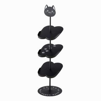 Yamazaki  Porte-Chaussures d'enfants - chat noir