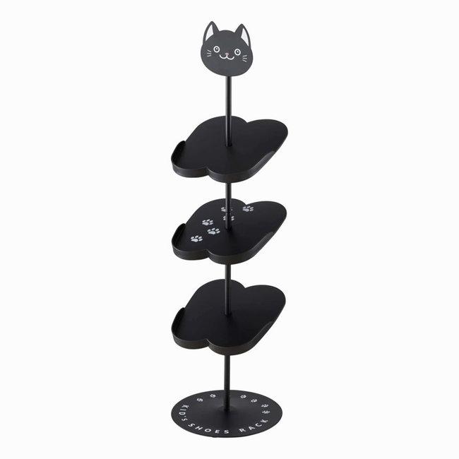 Yamazaki - Rack - Schuhregal für Kinder - schwarze Katze