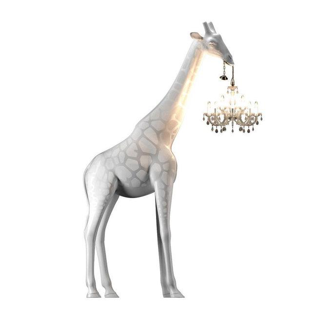 Qeeboo Vloerlamp - Staanlamp Giraffe In Love XL - wit - H 2m65