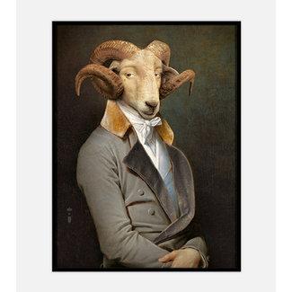 Ibride Schilderij Portret Ram Bel Ami