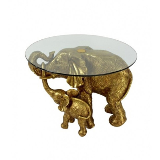 Werner Voß Side Table Elephant Mali & Kisha - gold