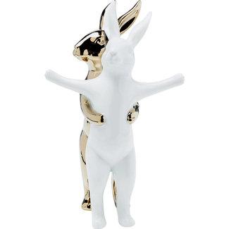 Karé Design Statue Hugging Rabbits