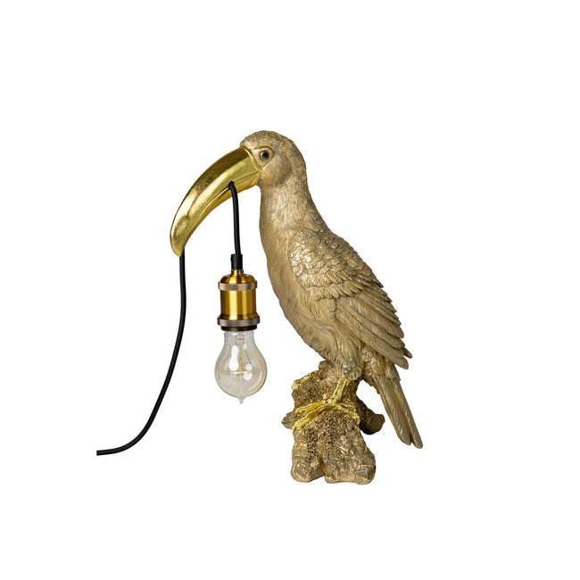 Tischlampe - Tierlampe goldener Tukan