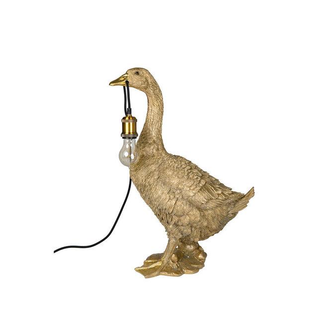 Tischlampe - Stehlampe - Tierlampe goldene Gans