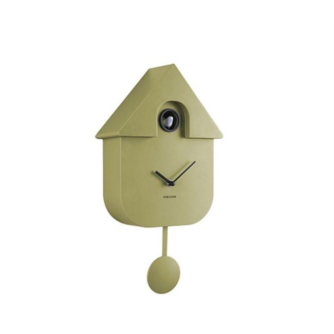 Karlsson Cuckoo Clock Cuckoo House - Olive Green