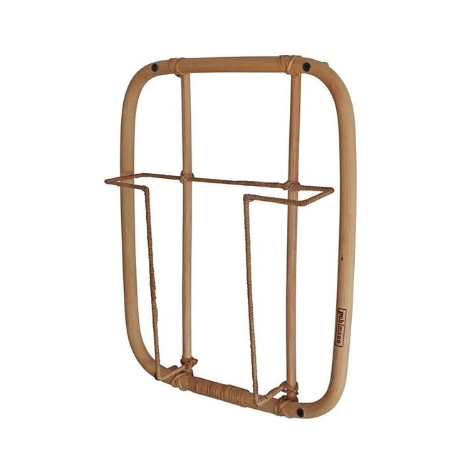 Magazine Rack Rattan Frame 1 - wall mounted