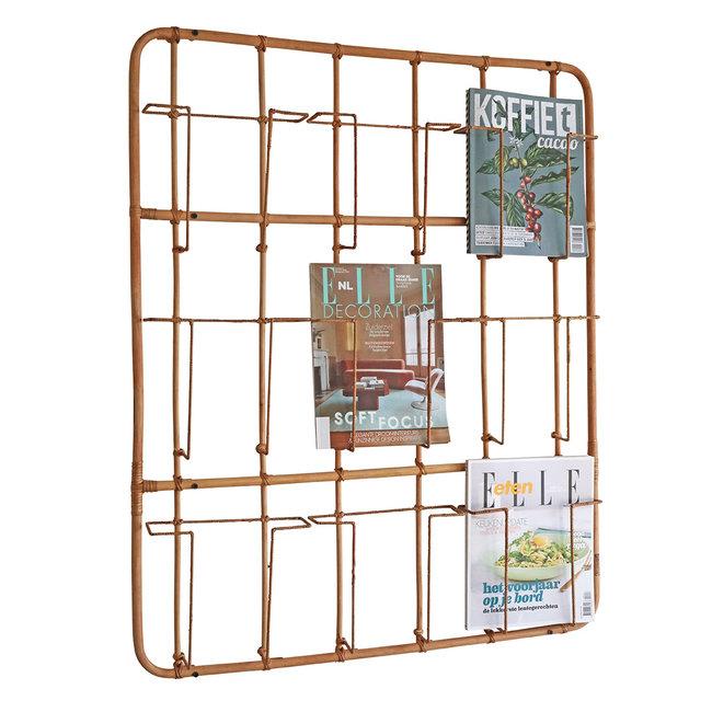Magazine Rack Rattan Frame 9 - wall mounted