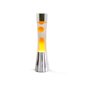 i-total Lampe à Lave - lave orange - base argentée