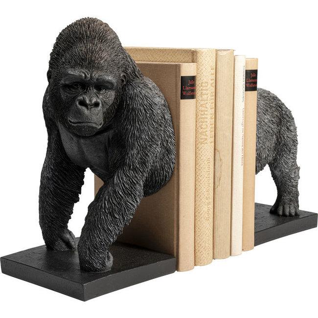 Karé Design - Buchstütze - Figurine  Gorilla  - 2er-Set