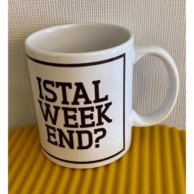 Urban Merch - Mug Istal Weekend?