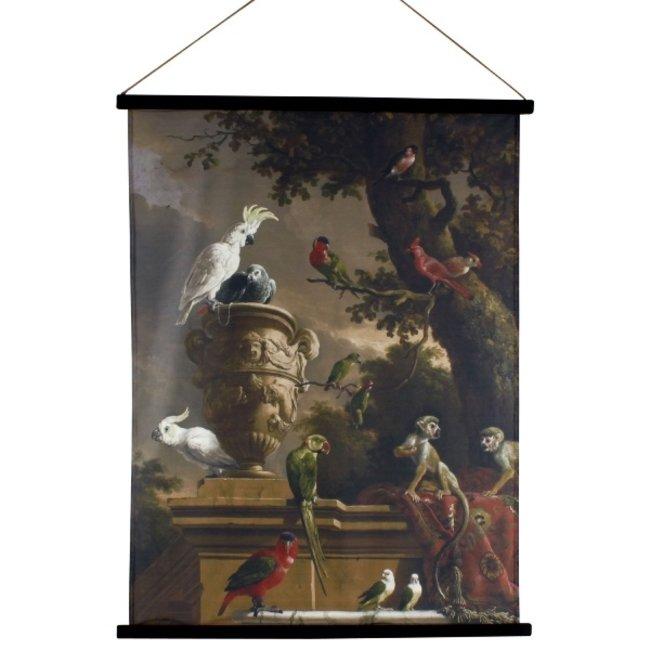 Werner Voß - Wanddekoration Kakemono Dschungel -  Leinwand Poster 80 x 100 cm