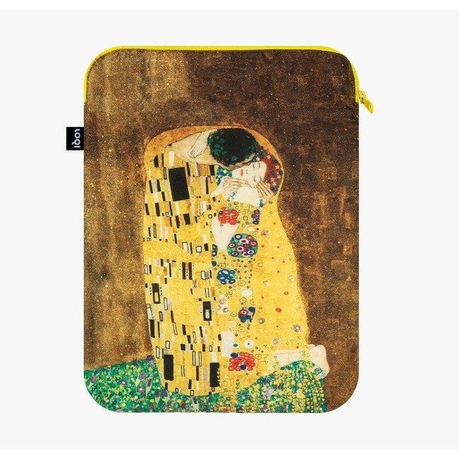 LOQI - Laptophülle Der Kuss - Gustav Klimt - recycelt - 26x36 cm