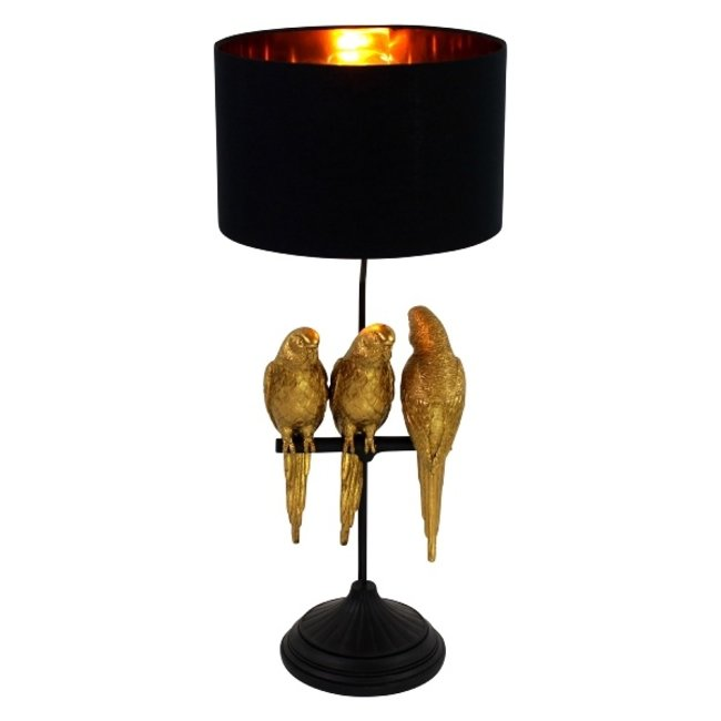 Werner Voß - Table Lamp - Animal Lamp Budgie Timmy, Tommy & Tammy