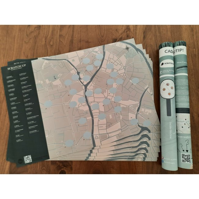 Scratch-Up - Scratch Map - Rubbelkarte Restaurants in Gent