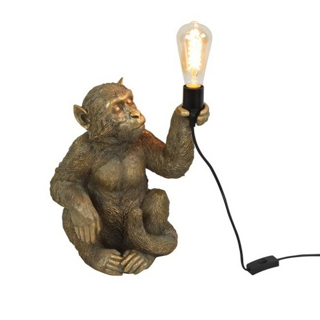 Werner Voß - Table Lamp - Animal Lamp Monkey Gold - sitting
