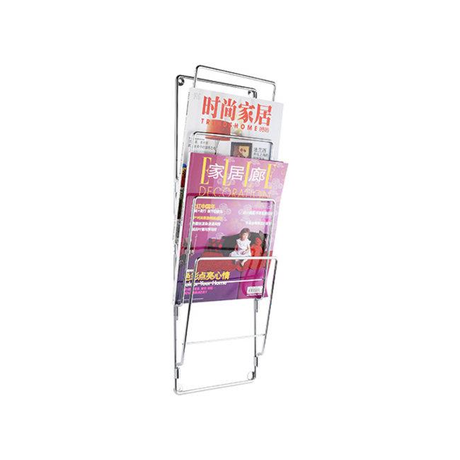 Present Time - Magazine Rack Steel Wire - chrome