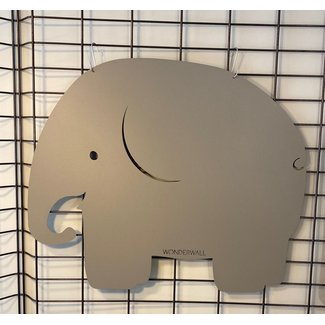 FAB5 Wonderwall Magnetplatine Elefant - Grau