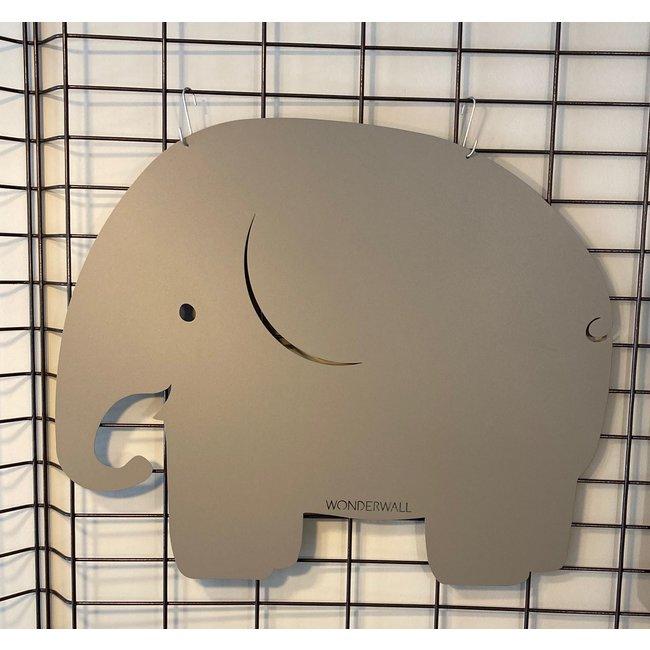 Wonderwall Tableau Magnétique - Tableau Mémo Éléphant - Gris