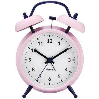 Fisura Retro Alarm Clock with Hammer Bell