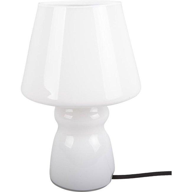 Leitmotiv - Lampe de Table Classique Verre Blanc