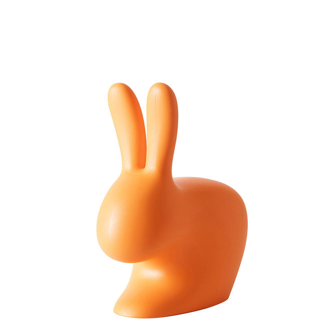 Qeeboo Stuhl - Hocker Rabbit Chair Baby - helles orange