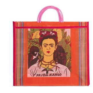 Kitsch Kitchen Carrier Bag  Frida Kahlo
