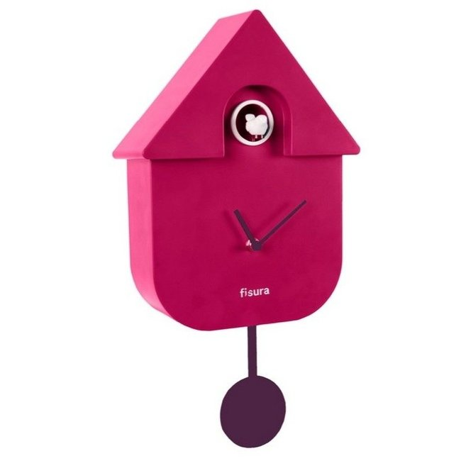 Cuckoo Clock Cuckoo House - red  - orchid