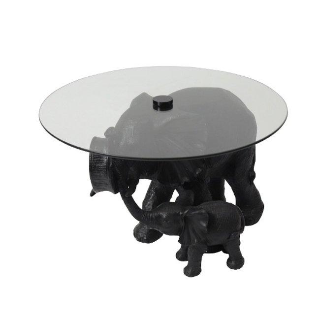 Werner Voss - Side Table Elephant Mali & Kisha - black