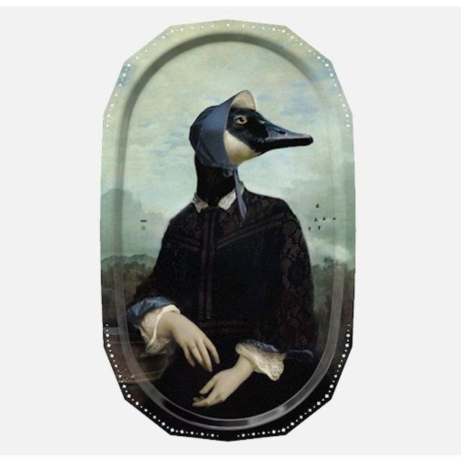 Ibride - Tray / Wall Art  Ellipse - Bernache Duck - large