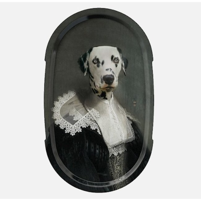 Ibride - Dienblad / Schilderij Ellipse - Hond Sapho - large