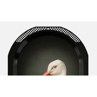 Ibride Tray / Wall Art  Ellipse - Mrs Stork