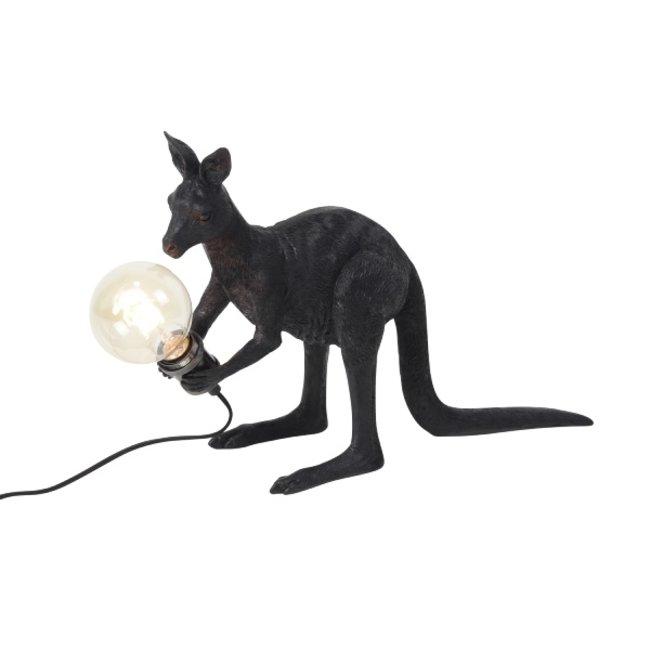 Werner Voß - Table Lamp - Animal Lamp Kangaroo Skippie - black