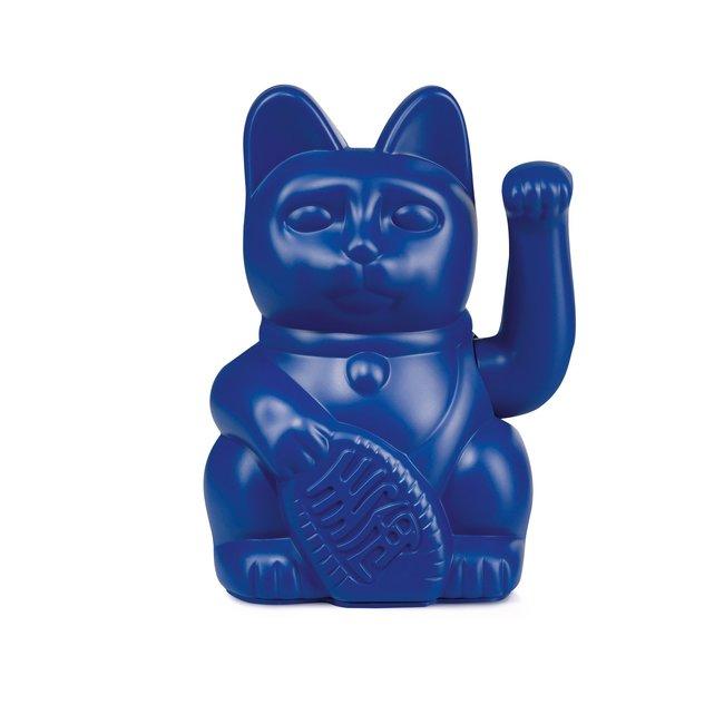 Donkey - Waving Lucky Cat Maneki-Neko - dunkelblau