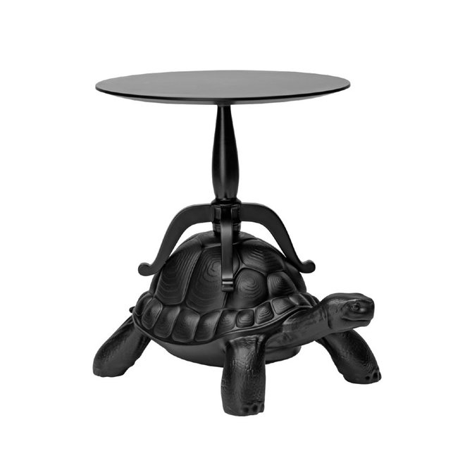Qeeboo - Side Table - Coffee Table Turtle Carry - black