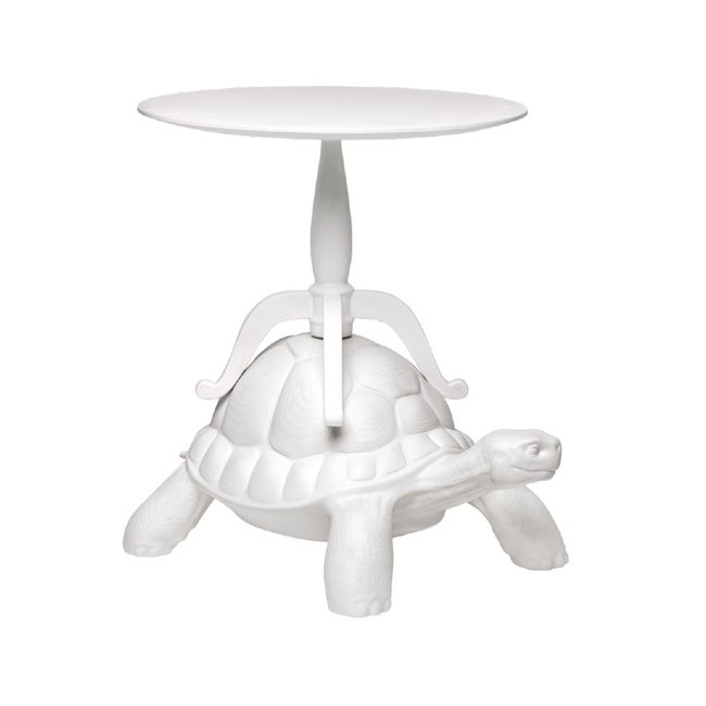 Qeeboo Side Table Turtle Carry - white