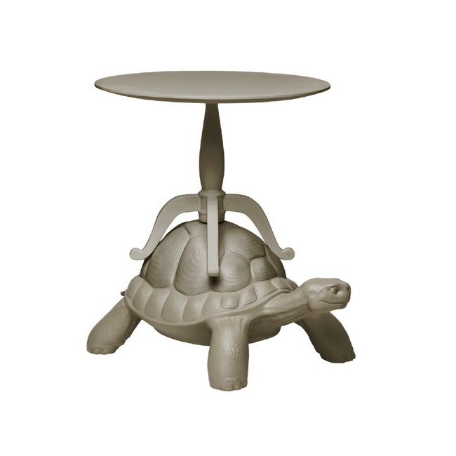 Qeeboo Table d'appoint Tortue Carry - gris colombe