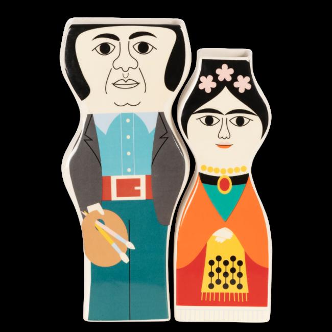 Kitsch Küchen - Vasen-Set Frida und Diego - farbig