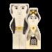 Kitsch Kitchen Vasen-Set Frida und Diego - schwarz/weiß