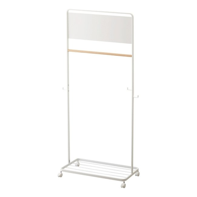 Yamazaki - Kids Coat Rack Tower - with panel and casters - white