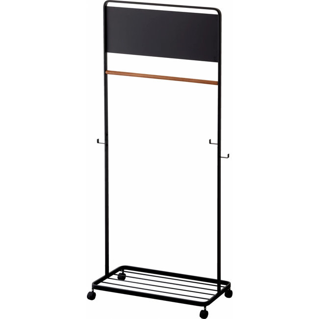 Yamazaki - Kids Coat Rack Tower - with panel and casters - black