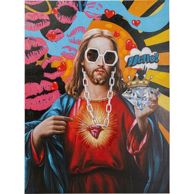 Karé Design - Wanddekoration Leinwand Poster Jesus Pop - 90x120