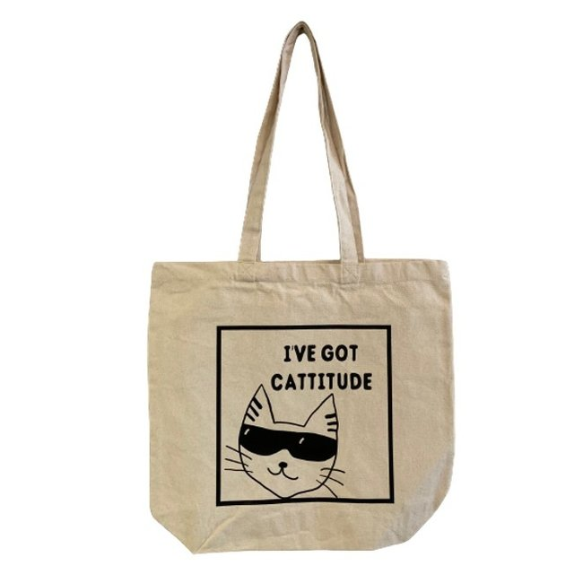 Urban Merch Tote Bag - I've Got Cattitude
