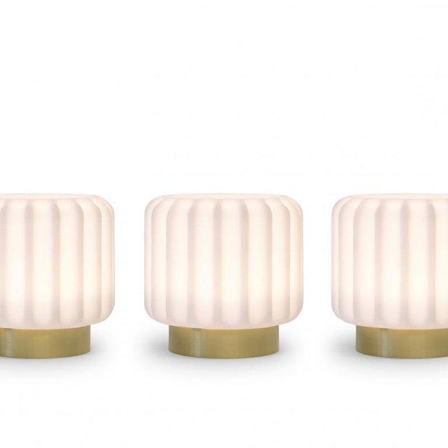 Atelier Pierre - Tafellamp - Sfeerlamp Dentelles 9 - set van 3 - oplaadbaar - dimbaar