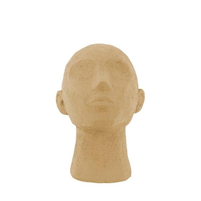 Present Time Statue Face Art Up Brun-sable