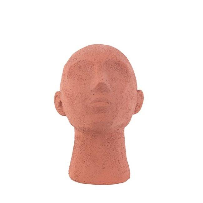 Present Time Statue Face Art Up Terracotta